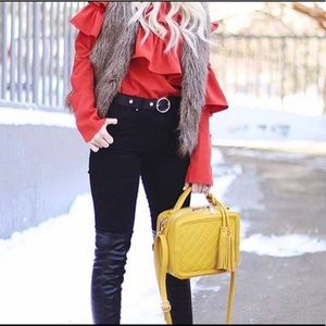 Beautiful Lux Bag Gorgeous Mustard Color